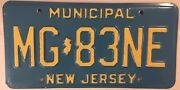 Rare Municipal Government Police License Plate Sheriff Officer Official Mg 83 Ne