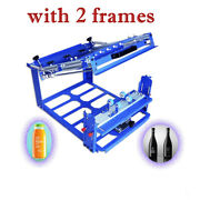 Manual Cylinder Curved Screen Printing Press For Cup / Mug / Bottle With Frame