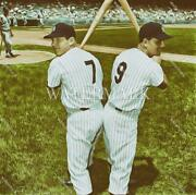 E539 Mickey Mantle And Roger Maris Yankees 8x10 11x14 16x20 Oil Painting Photo