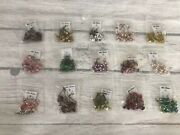 15 Pairs Long Drop Crystal Round Hoop Boho Fancy Party Variety Wholesale Lot A