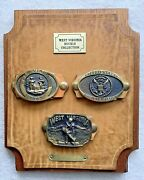3 Registered Collectible Heritage Mint Solid Brass West Virginia Belt Buckles