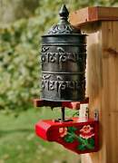 Tibetan Copper Prayer Wheel With Compassion Mantra Hand Hammered In Nepal 17.5