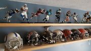 32 Russell Nfl Small Replica Helmets And Mcfarlane Action Figure All 32 Teams Lot