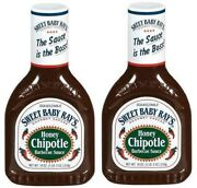 Sweet Baby Ray's Honey Chipotle Barbecue Sauce 18 Oz Bottle 2 Pack