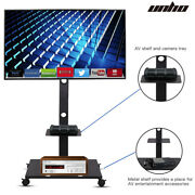 Rolling Floor Wheeled Tv Stand With Mount For Most 32-65 Flat Led Lcd Screen Tv