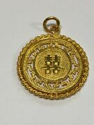 22k Foreign Coin Style Gold Charm 5.1 Grams