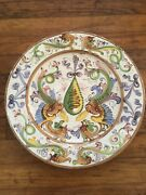 Antique French Faience 19th Century 13.5andrdquo Charger Plate
