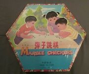 Rare Vintage Cardboard Marble Checkers, Chinese Checkers, Chun Yee Toy Factory