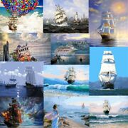 Diy Boats Ship Paint By Number Kit Oil Painting Acrylic On Canvas Home Art Decor