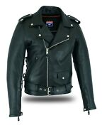 Highway Leather Old School Police Style Motorcycle Leather Jacket 2 Ammo Pocket
