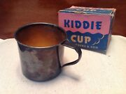 Vintage 1942 Wm. Rogers And Son Kiddie Cup Silver Plated With Box