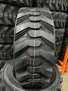 4 New 10-16.5 Power King Rim Guard Hd+ Skid Steer Tires For Bobcat Cat And More