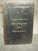 1874 Railroad-train Bible By American Bible Society, New York. Astoria Station