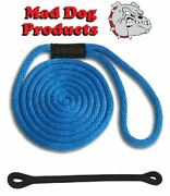 Mad Dog Royal Blue Solid Braid Nylon Dock Line W/ Snubber - 1/2 X 30and039 Dock Line