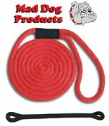 Mad Dog Red Solid Braid Nylon Dock Line W/ Snubber - 5/8 X 30and039 Dock Line