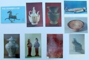 Set Of 8 Chinese Antiques Postcards W/ Original Folder Printed In China