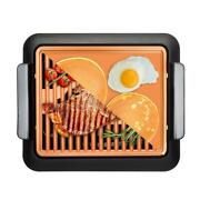 Electric Grill And Griddle Aluminum Non-stick Ti-ceramic Adjustable Thermostat
