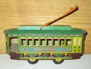Antique Chein And Co. 270 Broadway Passenger Street Car Tin Toy