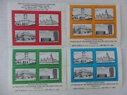4 Blocks Of Official Poster Stamps American Stamp Dealers Assoc. Show 1968