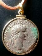 Nerva Rare Large 26mm Authentic Ancient Roman Coin Gold-filled Pendant Necklace
