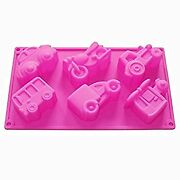 Homedmade Chocolate Soap Candle Crayon Cookies Plaster Diy Silicone Mold Pan Tra