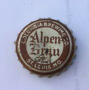 Beer Bottle Cap Crown Alpen Brau St Louis Mo Flat Cone Can Top Brewery Tin 3.2
