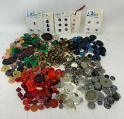470+ Vintage Antique Sewing Buttons Metal Bakelite Wood Matched And More