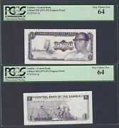 Gambia One Dalasi Nd 1971-87 P4p Obverse And Reverse Die Proof Uncirculated
