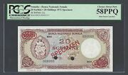 Somalia 20 Shillings 1971 P15s Specimen Tdlr About Uncirculated