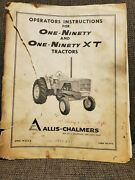 Allis Chalmers One-ninety And One-ninety Xt Farm Tractors Operatorand039s Manual Used