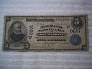 1902 5 Dickinson N Dakota Nd National Currency Date Back 8201 Unique On Bank