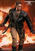New Hot Toys Terminator T-800 Battle Damaged Sixth Scale Action Figure Mms238