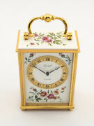 Beautiful Imhof Bucherer Table Desk Clock With 8 Days 50's