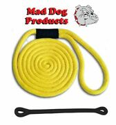 Mad Dog Yellow Solid Braid Nylon Dock Line W/ Snubber - 5/8 X 25and039 Dock Line