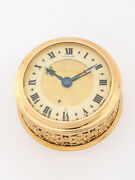Very Attractive Lecoultre Table Clock With 8 Days Alarm Made In The 50's