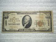 1929 10 Couer Dand039 Alene Idaho Id National Currency T1 13288 1st National Bank