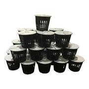 Kp07 - 25 Pack - Net Pot 3 Inch With Lids Mesh Hydroponic Aeroponic Orchid Round