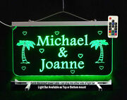 Personalized Man Cave Sign With Coconut Trees Garage Sign Wedding Gift