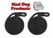 Mad Dog Black Fender Line - 1/2 X 6and039 - Sold In Pairs - Made In The Usa
