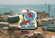 Vintage 60s Surf Boards Decal Hot Rod Rat Flathead Drag Ford Hawaii Surfer Woody