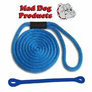 Mad Dog Blue Solid Braid Nylon Dock Line W/ Blue Snubber - 5/8 X 30and039 Dock Line