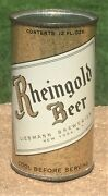 Early Instructional Ultra Rare Rheingold Oi Flat Top Beer Can-usbc 123-32