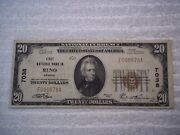 1929 20 Reno Nevada Nv National Currency T1 7038 1st National Bank In Reno