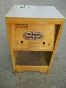 Antique Vintage Motel Bradley 25 Coin Operated Tube Radio End Table Meter-matic