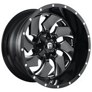 4 Wheels Fuel 1pc Cleaver Gloss Black Milled 22x12 Ford F250 Rims 8x170 -44