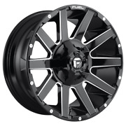 4 Wheels Fuel 1pc Contra Gloss Black Milled 22x12 Ford F250 Rims 8x170 -44