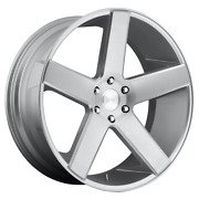 For 4 Dub 1pc Baller Gloss Silver Brushed 24x10 Chevy Gm Toyota 6x5.5+30