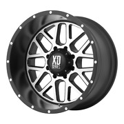 4-xd By Kmc Wheels Grenade Satin Black Machined Face 20x10 Rims Gm Toy 6x5.5-24
