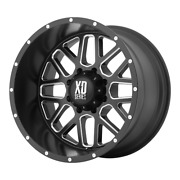For 4-xd By Kmc Wheel Grenade Satin Black Milled 20x12 Chevy Toyota 6x5.5-44