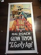 The Goofy Age - Hal Roach Comedy 1924 Us Three Sheet Silent Movie Poster Lb